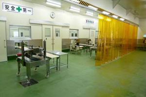 潮見町工場梱包室
